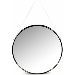 Lanterfant® Olivia - Spiegel - Wandspiegel - Rond - Staal - Rose goud