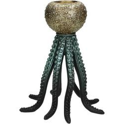 Kersten kandelaar oktopus zwart 20x17x17cm