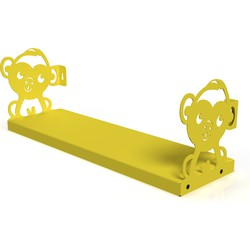 Gorillz Kids Monkey- Boekenplank Boekenrek Kinderkamer - Geel