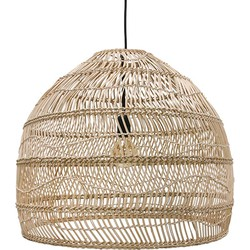 HKliving hanglamp riet handgevlochten naturel bruin 60x60x50cm medium