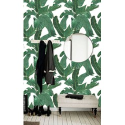 Zelfklevend behang Jungle Bananenblad groen 122x275 cm