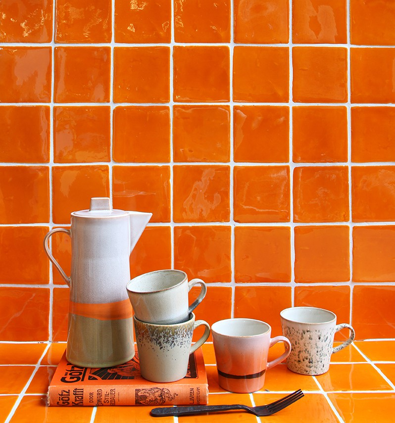 Amber oranje tegels