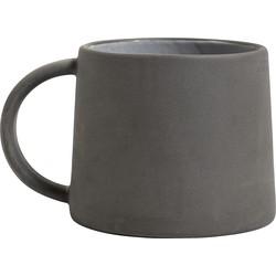 Nordal mok aardewerk mat grijs Ø 9 cm