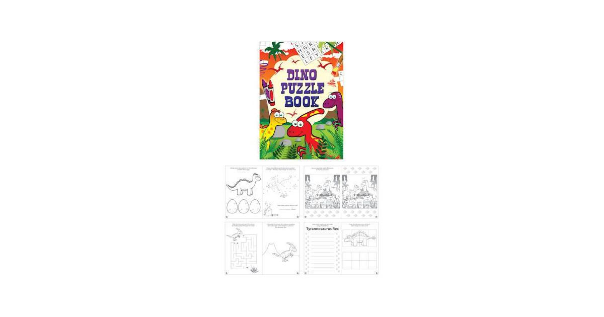 Uitdeelcadeautjes - Puzzelboeken - Model: Dinosaurus (48 stuks)
