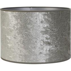 Lampenkap cilinder CHELSEA - 50-50-38cm - velours zilver