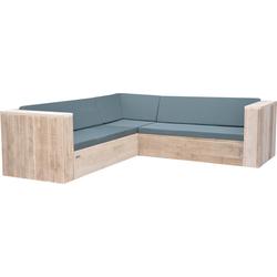 Wood4you - Loungeset 2 steigerhout  210x210 cm - incl kussens