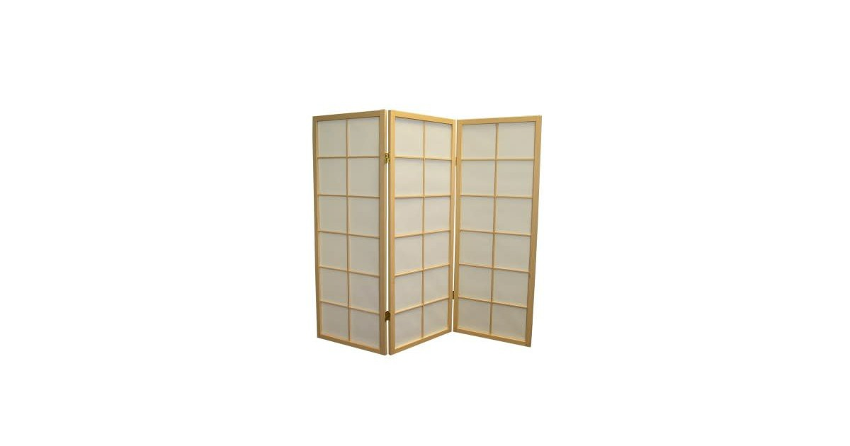 Fine Asianliving Japanese Room Divider L135cmxH130cm Shoji Rice Paper
