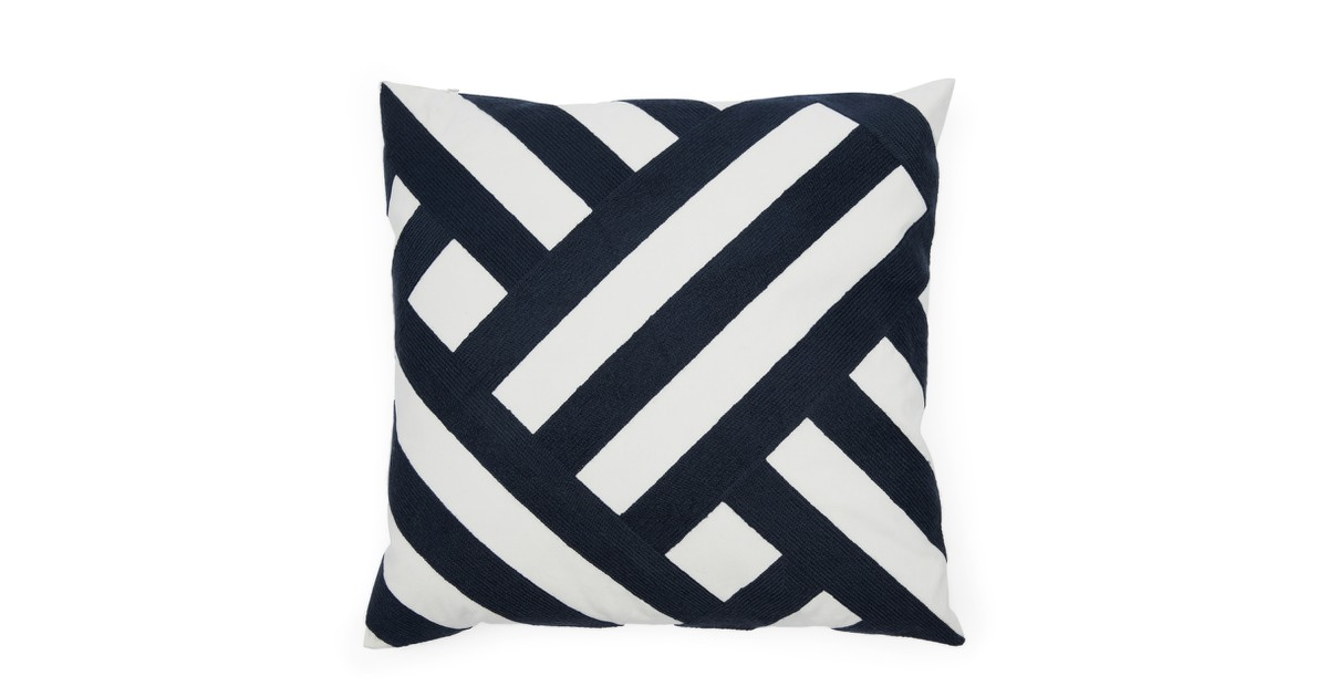 Riviera Maison Yacht Club Graphic Pillow Cover Kussenhoes Blue / White 50.0 x 50.0 online kopen