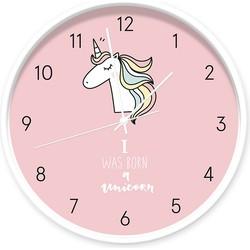 Klok unicorn roze -  / wit