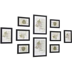 Nancy's fotolijst Set van 10 fotolijsten - 2 x 20x25 in, 4x (13x18),  4 x (10x15) - Fotolijstjes