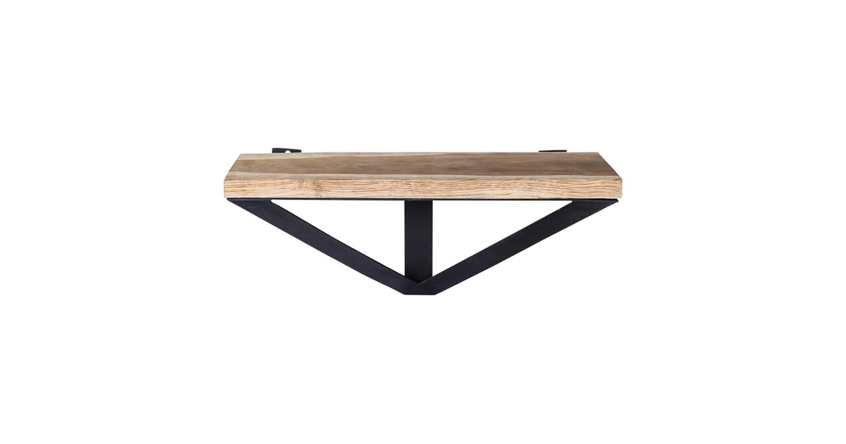 PTMD Kenzy Wood natural wall shelf triangle L