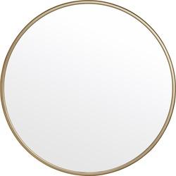 Nordal spiegel rond ijzer goud Ø80
