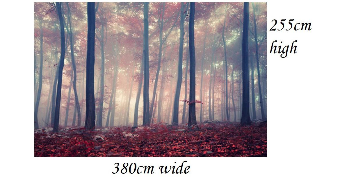 Zelfklevend behang Roze Bos 380x255cm Maatwerk