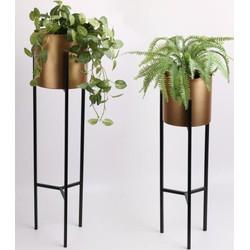 Plantenstandaard Lily goud zwart - Lifa Living