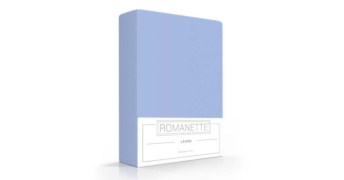 Katoenen Lakens Romanette Blauw-150 x 250 cm