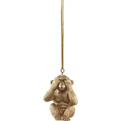 Kerstornament aapje zien - Goud - PTMD
