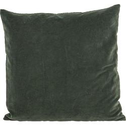 House Doctor kussenhoes - Velvet green - 50 x 50 cm