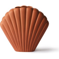 HKliving vaas schelp bruin medium