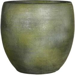 Mica Decorations ingmar pot groen relief maat in cm: 27 x 27