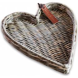 Rivièra Maison Rustic Rattan Heart Mini Tray