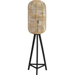 Light&Living Vloerlamp Tabana Naturel 140 x Ø36