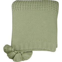 Plaid Knitted groen