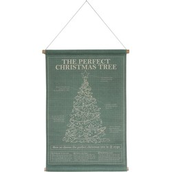 HK-living kerst schoolplaat, poster op canvas perfect christmas tree 59x92x2,5cm