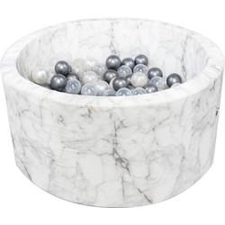 Ballenbad XL Rond 90x40 | White Marble - EXCL BALLEN