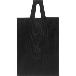 broodplank vierkant hout zwart s 17 x 30 x 1,5