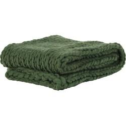 Light&Living Plaid Knitted olijf groen 152 x 127