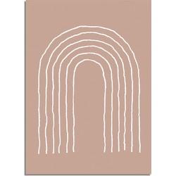 Regenboog Lijnen - Grafische poster - A4 poster (21x29,7cm)