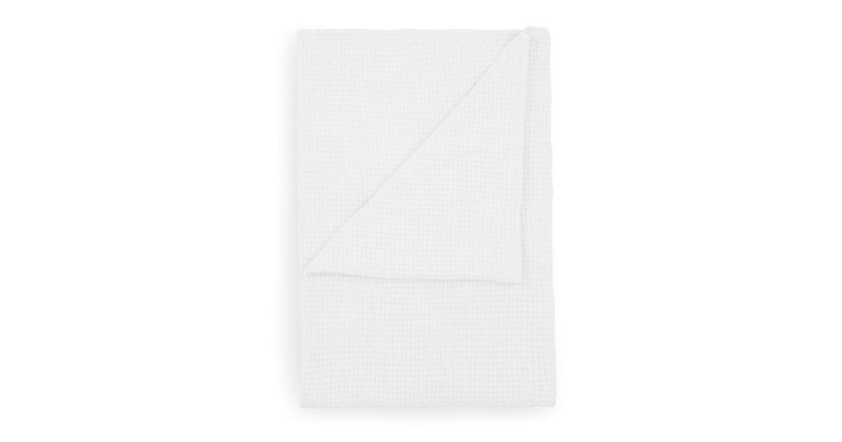 Yellow Wafel Stephanie Bedsprei Plaid - white 180x260cm