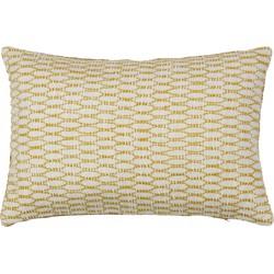 Pattern Geweven Kussen Ivoor/mosterd 40x60