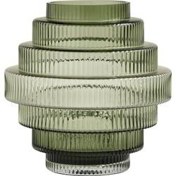 Nordal Rill vaas glas groen 24 cm x 22 cm