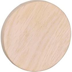 Memphis houten kapstokhaak - Wandknop - Ø8 cm - Whitewash