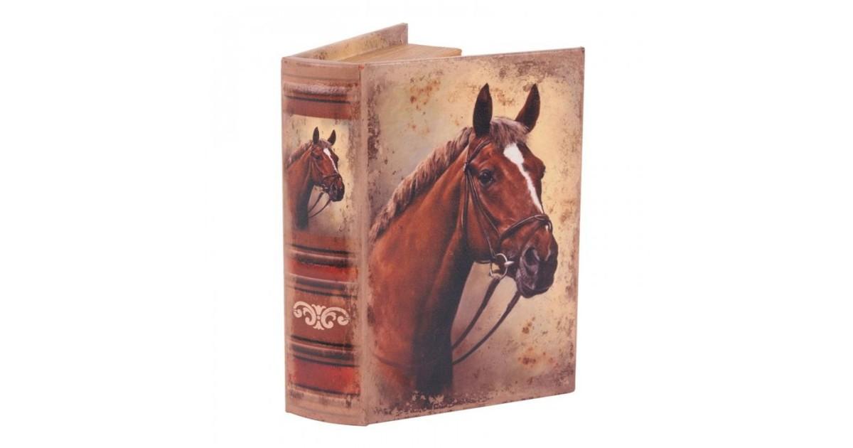 Baroque Collectie Boek doos 20 cm Paard bruin