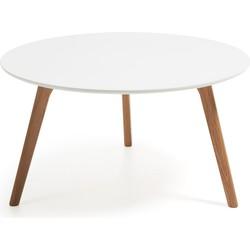 Kave Home - Kirb salontafel Ø 90 cm wit
