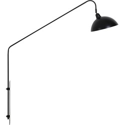 vtwonen - Wandlamp 110x30x127 cm ORION mat zwart