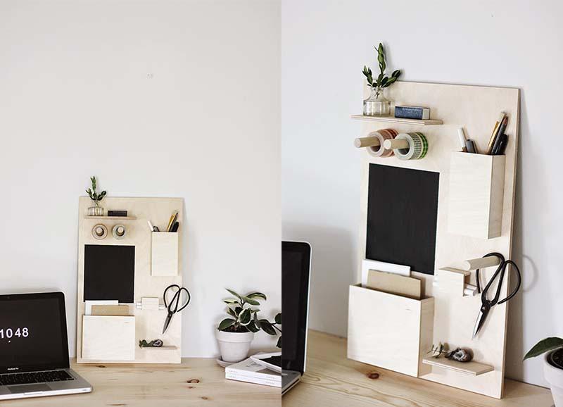 DIY: Desk organizer