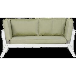 Lanterfant® Loungebank Lars - Aluminium - Wit - Uitklapbaar