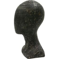 HKliving houten sculptuur no-face 15x16x29cm