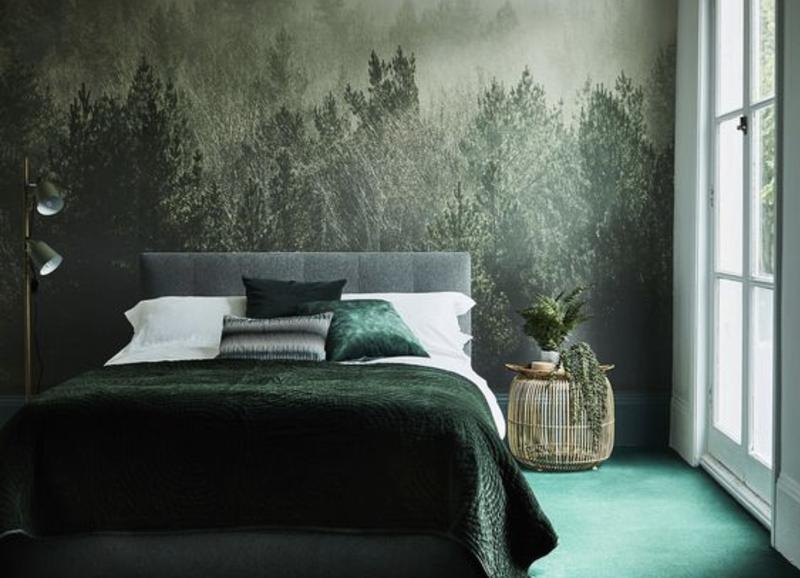 Inspiratie: een slaapkamer volledig in het groen