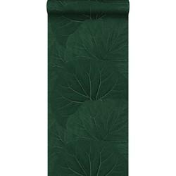 ESTAhome behang grote bladeren emerald groen