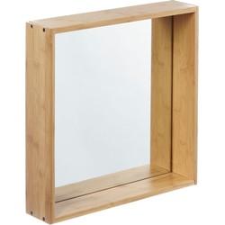 Furniteam - Design Wandspiegel Planken, Groot Naturel