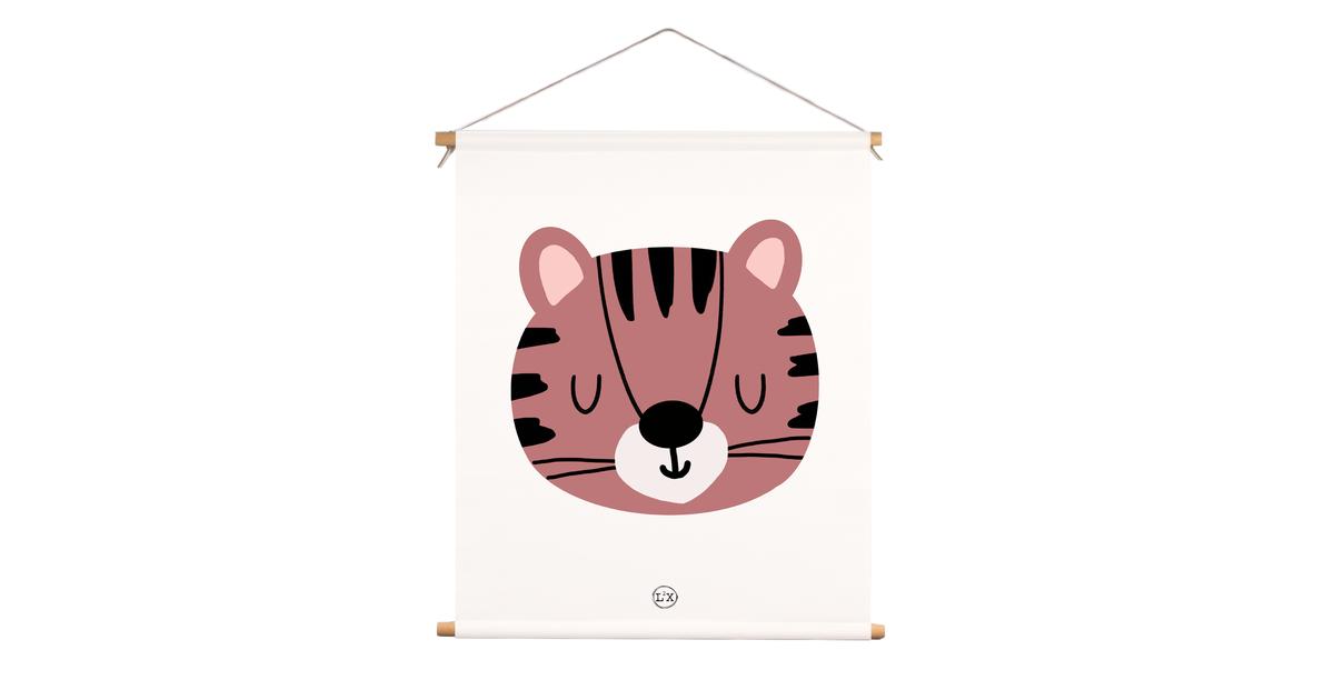 Textielposter kids tijger
