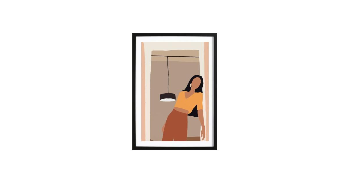 Abstract Girl Art Poster 2 (29,7x42cm)