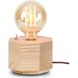 Kobe - Tafellamp - Achthoek naturel