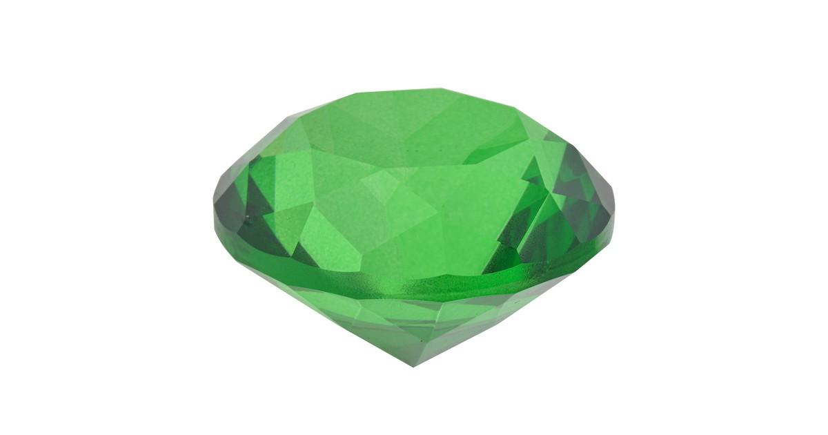 Melady Decoratie Kristal 4 cm Groen Glas Glazen Kristal