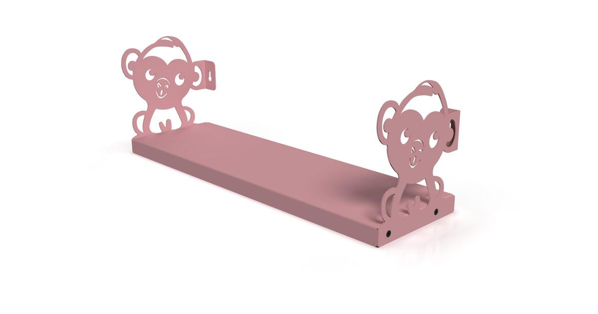 Gorillz Kids Monkey- Boekenplank Boekenrek Kinderkamer - Roze