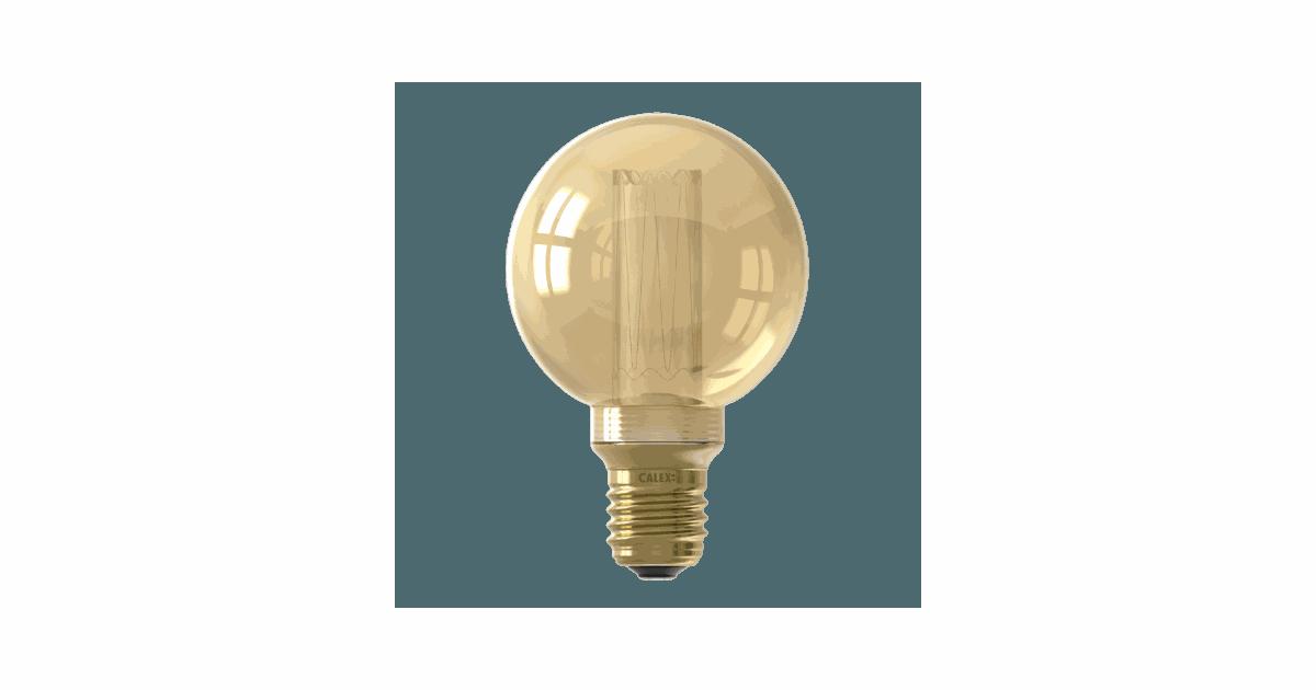 LED Glassfiber Globe Lamp G80 220-240V 3,5W E27 Gold